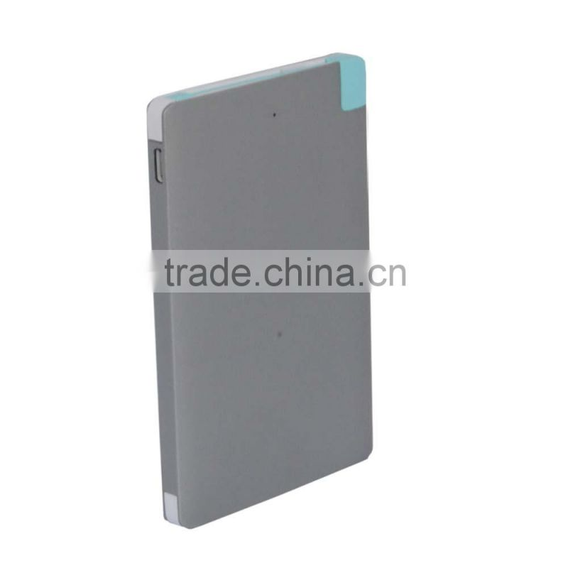 3 in 1 power bank aluminium mobile accessories credit card power bank 2500mAh li-polymer battery