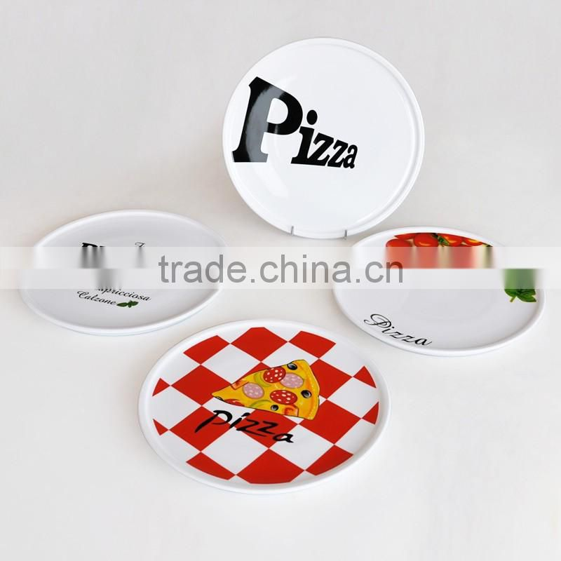 8inch Round Shape High Quality Ceramic Decorative Custom Pizza Plate