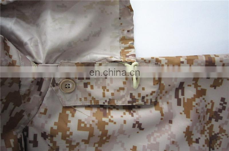waterproof desert camouflage military raincoat