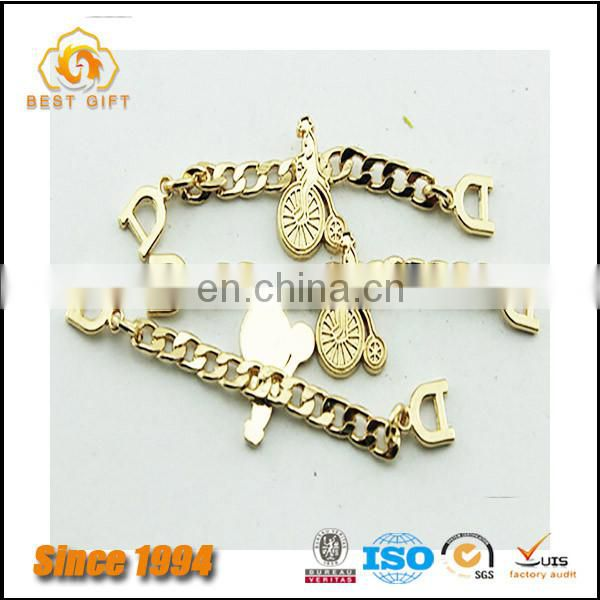 Guangdong Factory Custom Cheap Hardware Accessories Decorative Metal Logo Plate