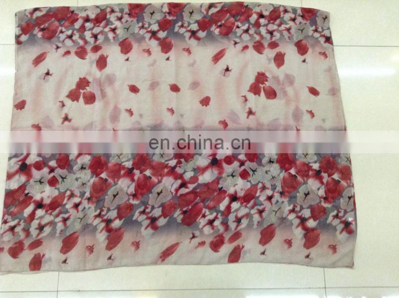 2014 new printed lotus voile scarf summer scarf and spring scarf flower