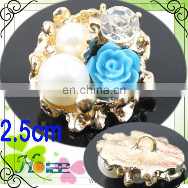 flower shaped fashion rhinestone buttons ,garment button,cheap acrylic button