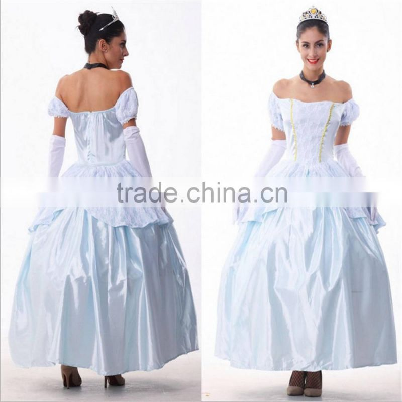European style party dress halloween adult princess snow white cinderella cosplay costumes
