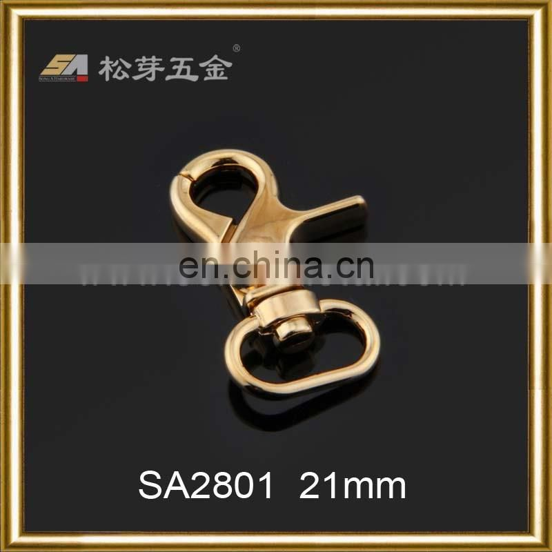 High Quality Gold Plated Snaphook For Handbag, Customized Gold Snaphook, Zinc Alloy Gold Color Snaphook