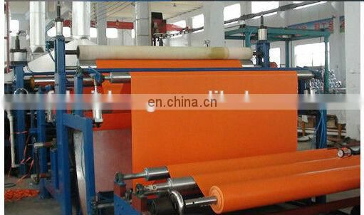650gsm orange pvc canvas tarpaulin roll fabric for truck cover, pool liner Image