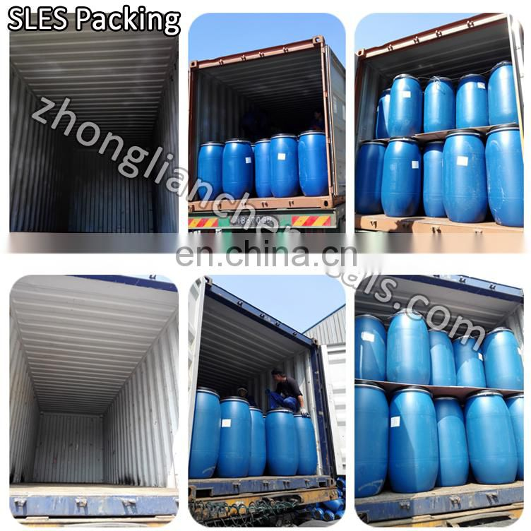 China chemical hs code 34021100 Sodium Lauryl Ether Sulphate sles70%