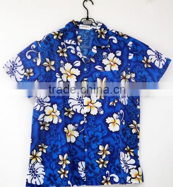 Custom printed floral men hawaiian shirt