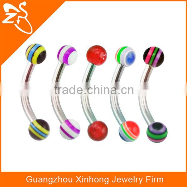 Tragus Balls Stainless Steel Barbell Curved Bars Ball Eyebrow