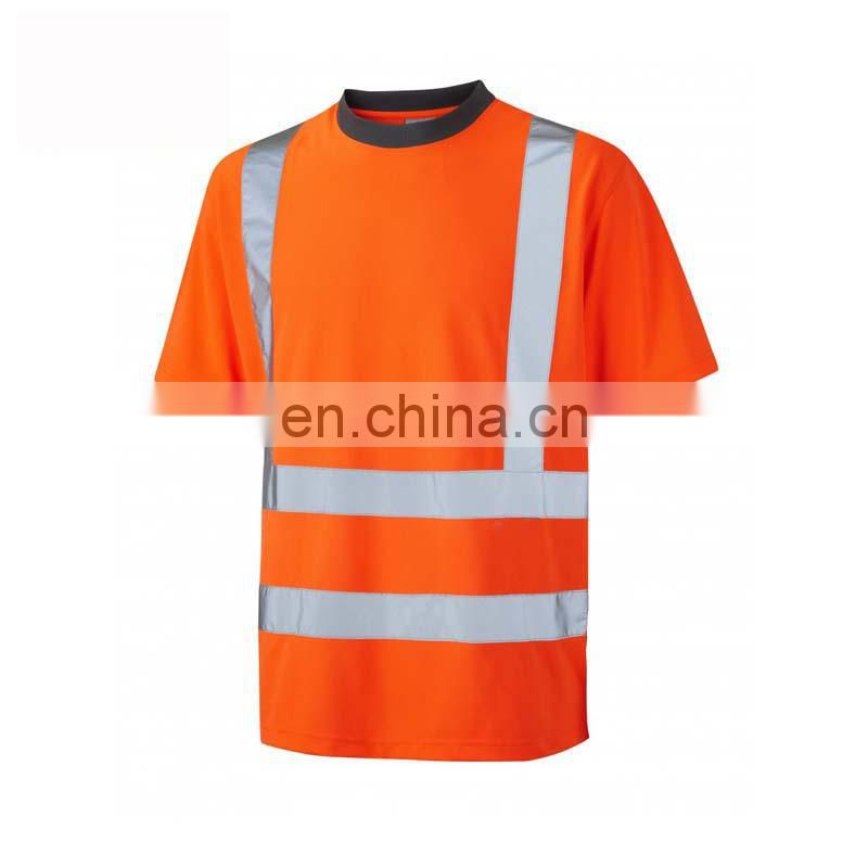 high visibility reflective new design orange t-shirt