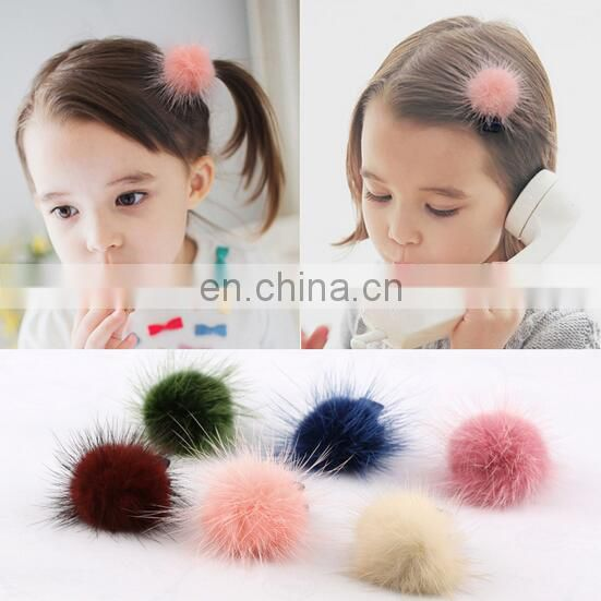 Baby Pom Pom Hair Clips Baby Girl Hair Clippie Pastel Baby Hair Clips Baby Birthday Gift