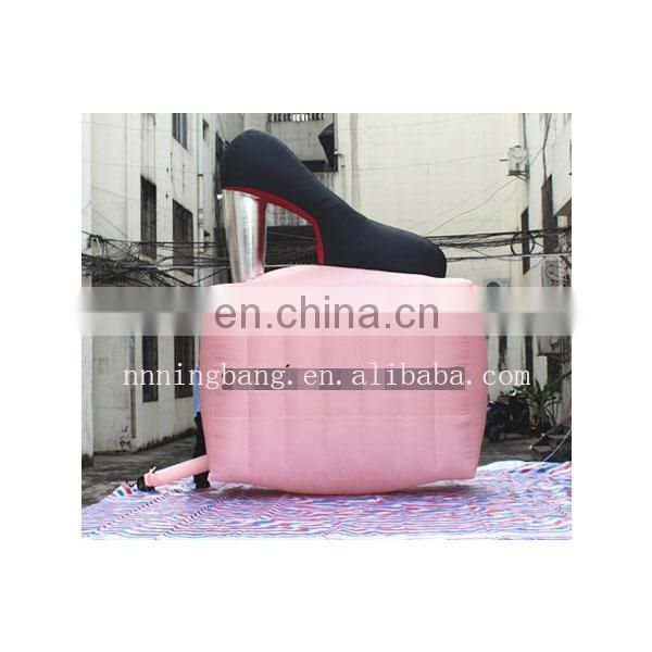 advertising inflatable high heels shoes with logo custom