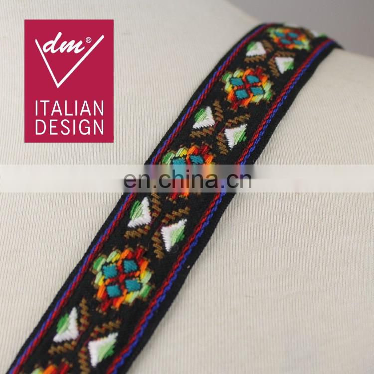 Fashionable ethnic embroidery ribbon lace trim for garment