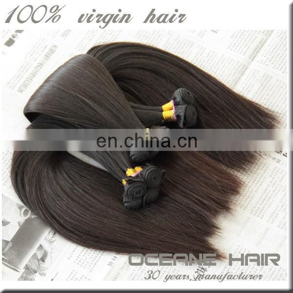 Wholesale supply top grade best selling factory price virgin hair extension double drawn 14 inch human hair weave extension