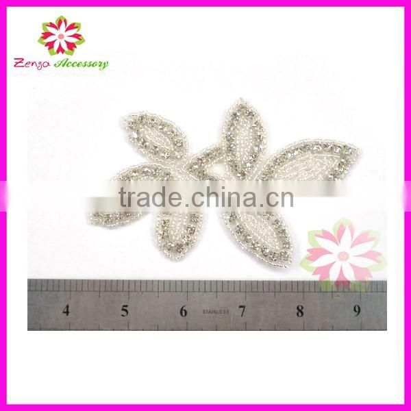 To Sew Wedding Dress Diamond Rhinestone Appliques, Embellished Beaded Applique Wholesale