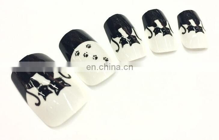 Artificial fingernails designed Nail art french tips /ABS fake nails for kids