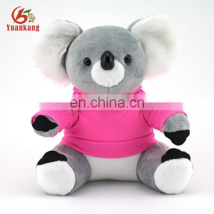 Well dressed stuffed animal plush koala bear keychain