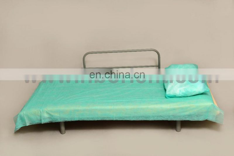 Disposable medical PP nonwoven blue white hospital bedsheet