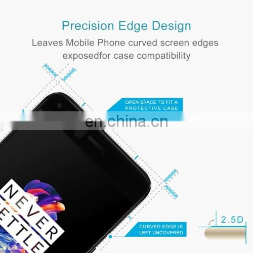 High quality big discount Full Cover For Oneplus 5 Genuine Premium Tempered Glass Film Screen Protector