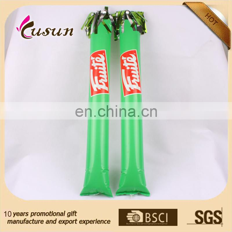 eco printed PE inflatable hand stick cheap wholesales manufacturer