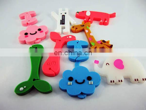 Promotion gifts cartoon rubber keychain