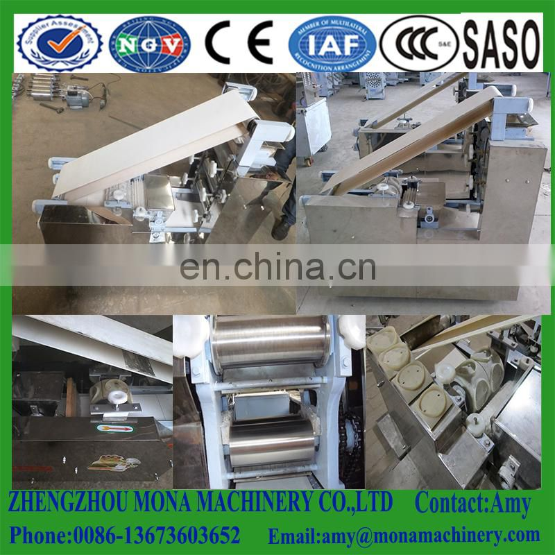 Food industrial used dumpling wrapper making machine round and square spring skin equipment Image