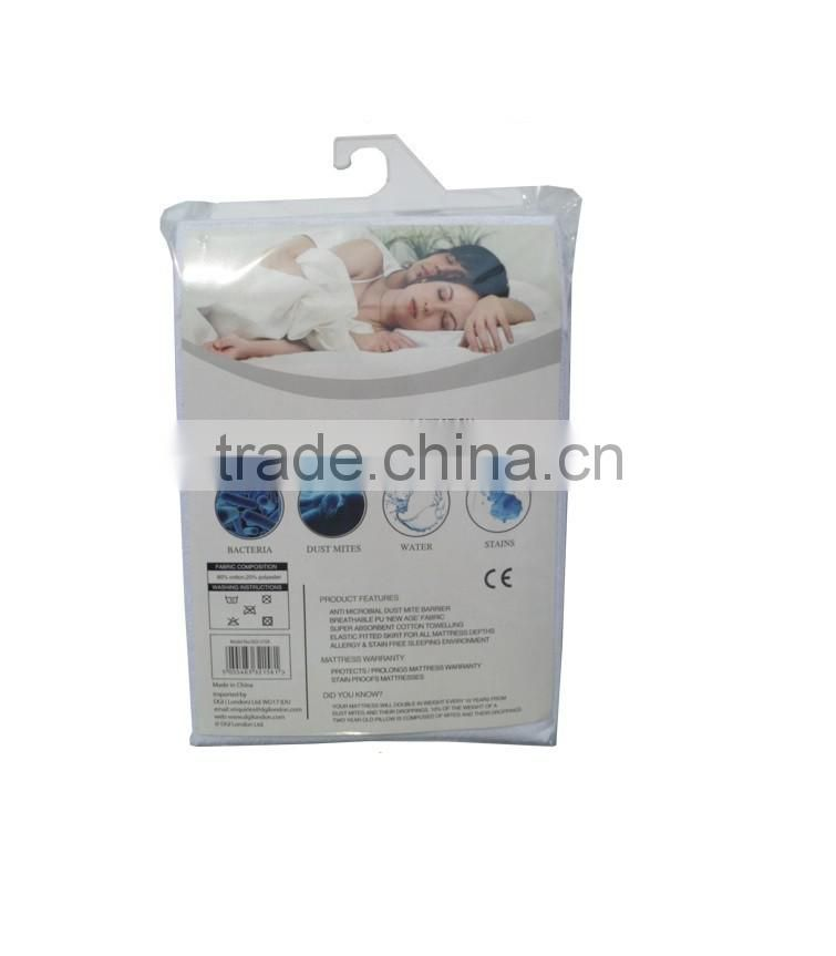 Good quality plain white waterproof bed sheet for home and hotel