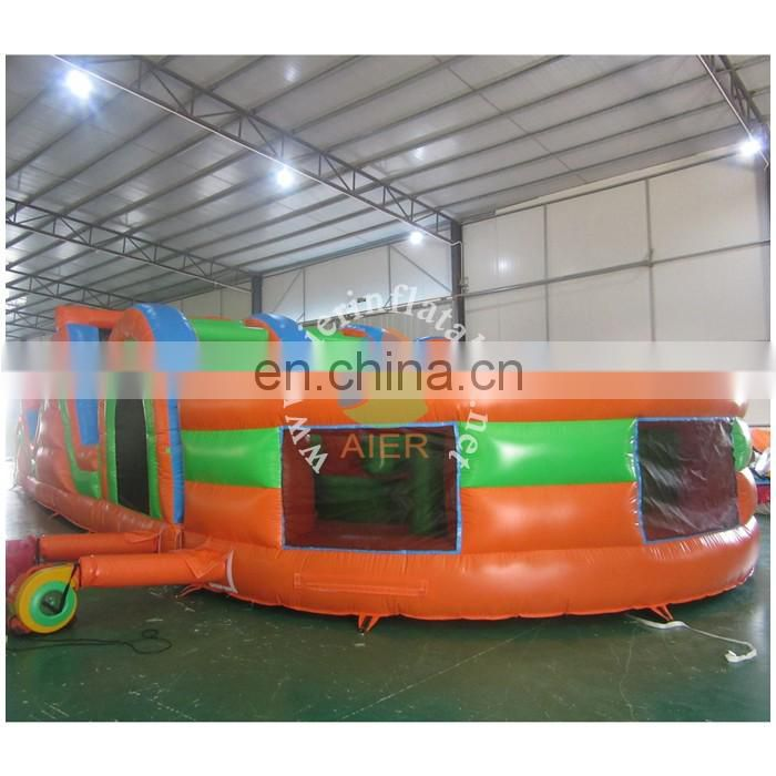 Colorful Inflatable Sports Games Danger Fun Inflatables Obstacle Course Games For Kids
