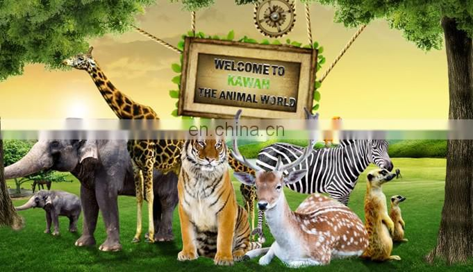KAWAH 2016 zoo Jungle Fiberglass Animal Model