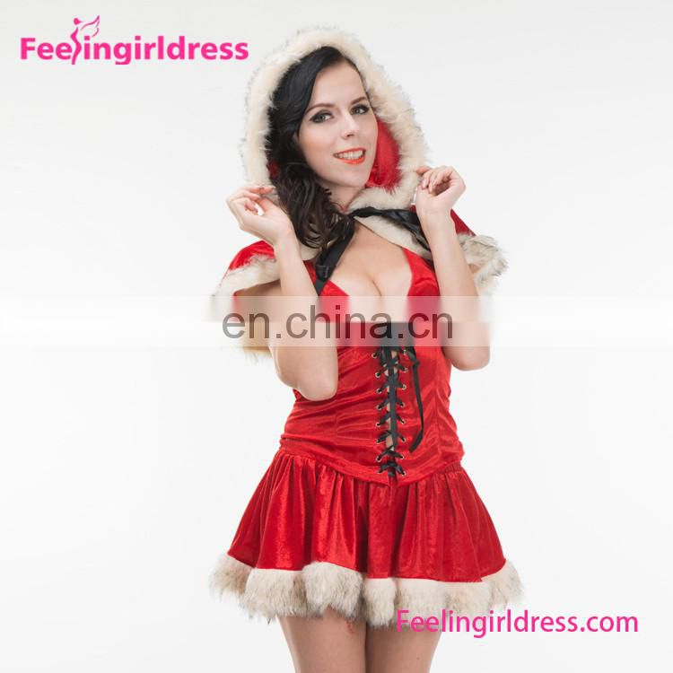 Christmas Holiday Hot Adult Red Sexy Santa Claus Costume