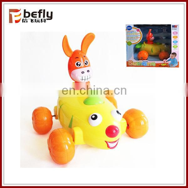 Donkey swinging plastic shantou baby toy for sale