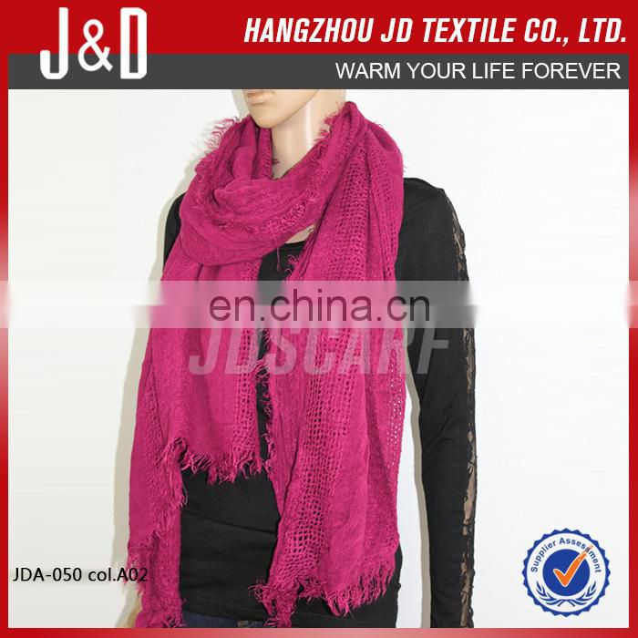 Hot Selling Fashion Warm Comfortable Long Plain Color Scarf