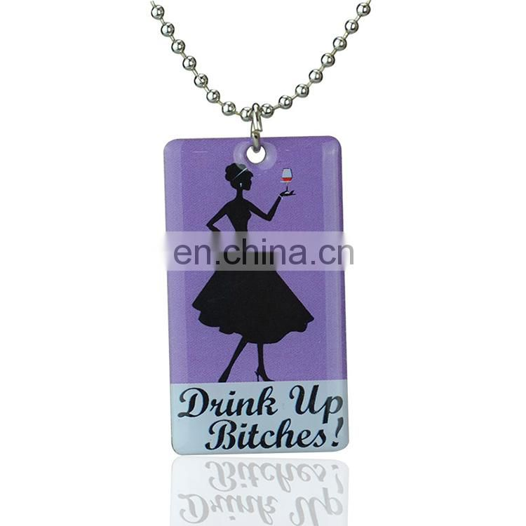Manufactory production promotional laser engraving 3d sexy girl style dog tag