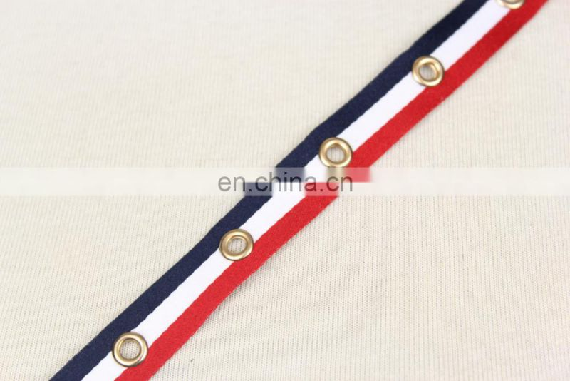 Good quality polyester webbing strap with eyelet tape
