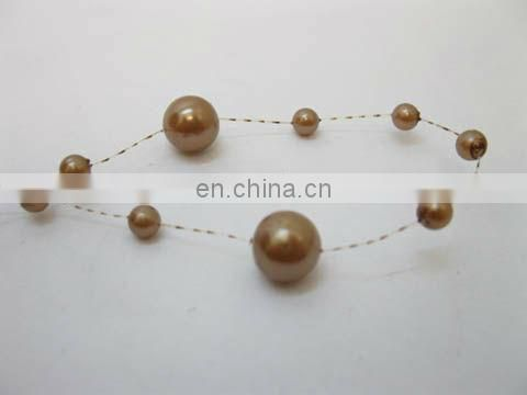 Coffee Pearl Spool Beads Garland For Wedding Party Decoration Decor Craft DIY