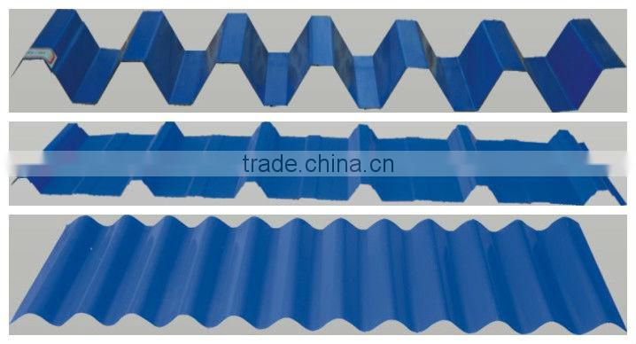 automatic double layer prepainted steel 1024 / 988 width corrugated roof tile cold roll forming machine with ce certification