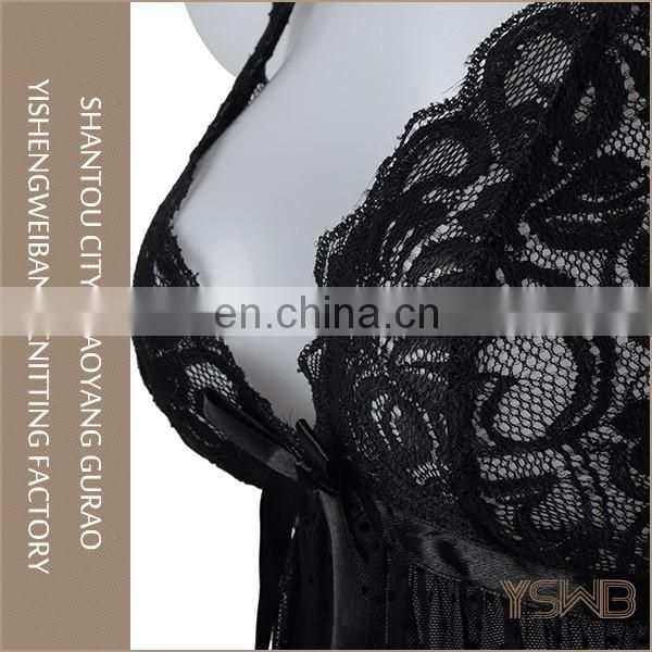 Custom cheap black babydoll sexy underwear thin lace erotic girls sexy lingerie