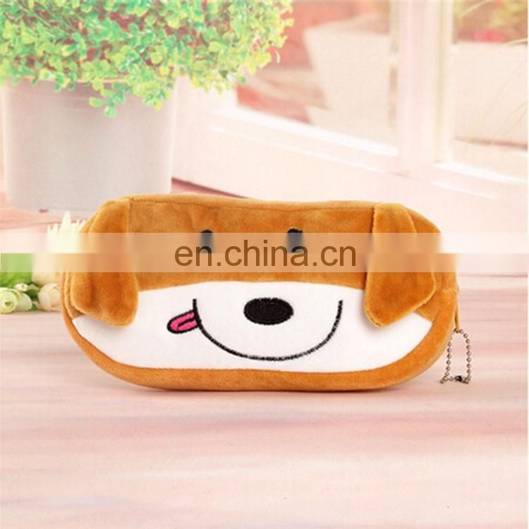High quality professional production plush pencil case custom multifunction pencil case for kid