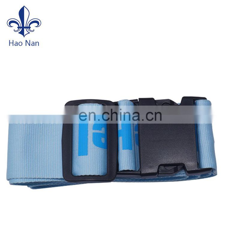 Factory cheap promotional custom elastic luggage strap with plastic buckle