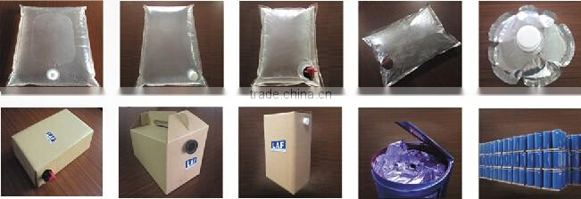 New food grade transparent clear plastic 5L wine packing bag in box holder wholesale factory price