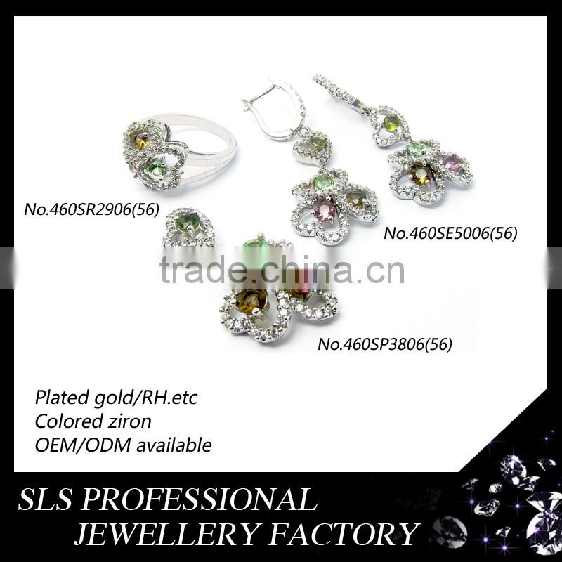 indian artificial crystal pendant necklace/ring/earring jewellery imitation jewellery for bridal set