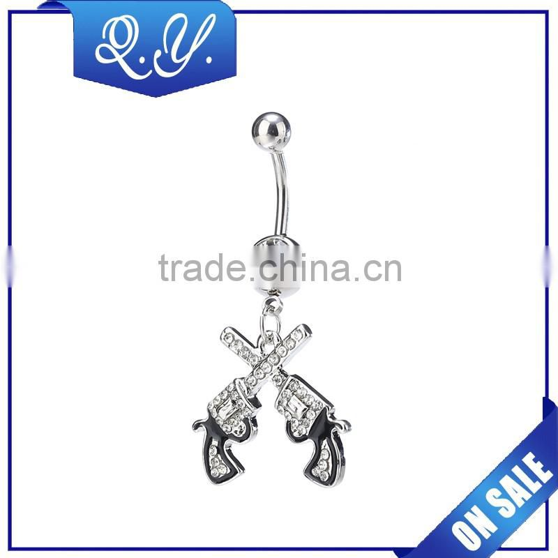 NB0207 Industrial piercing body jewelry, belly button piercing navel ring flower and heart shaped