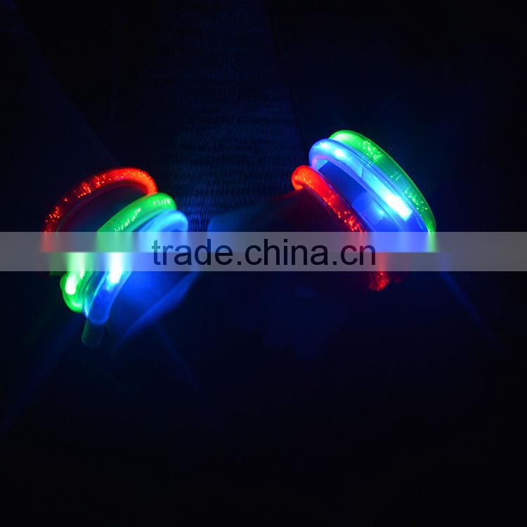 wholesale LED flash bracelet concert light up wristband/ party Props