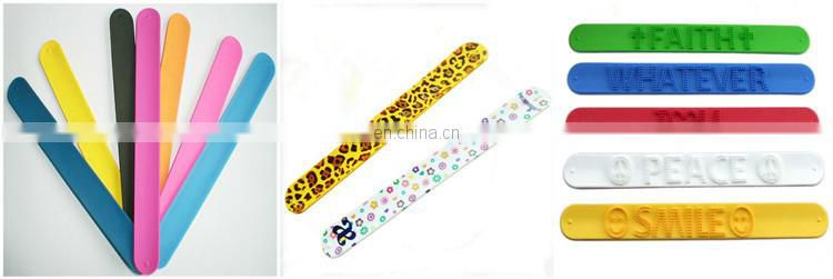 Gifts crafts plastic crafts shaped personalized silicone cheap price EN71 kids snap band