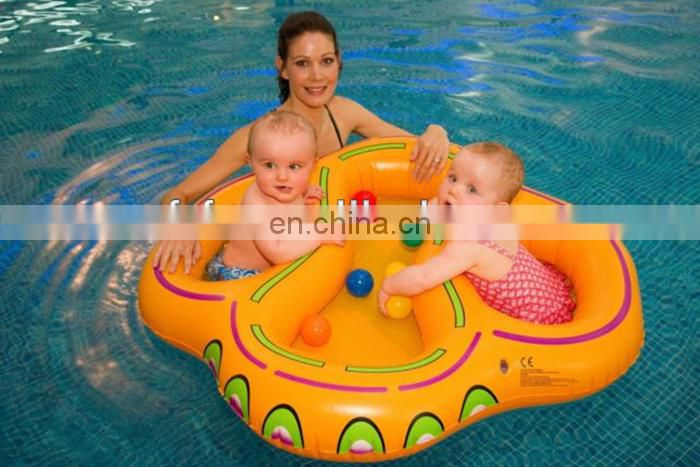 twin baby inflatable swim float seat