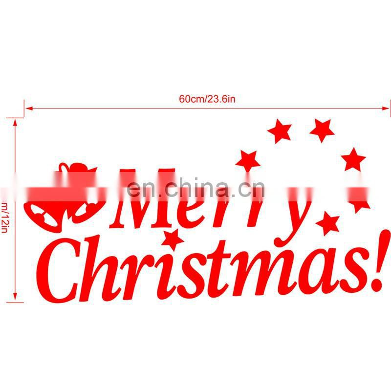 Christmas Decoration Supply Merry Christmas Removable Car Wall Stickers for Window and Room