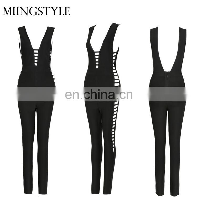 oem one piece bodycon sexy ladies suit tight rompers bandage jumpsuits women 2017