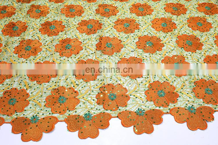 Hot selling african latest french net lace fabric for wedding dress