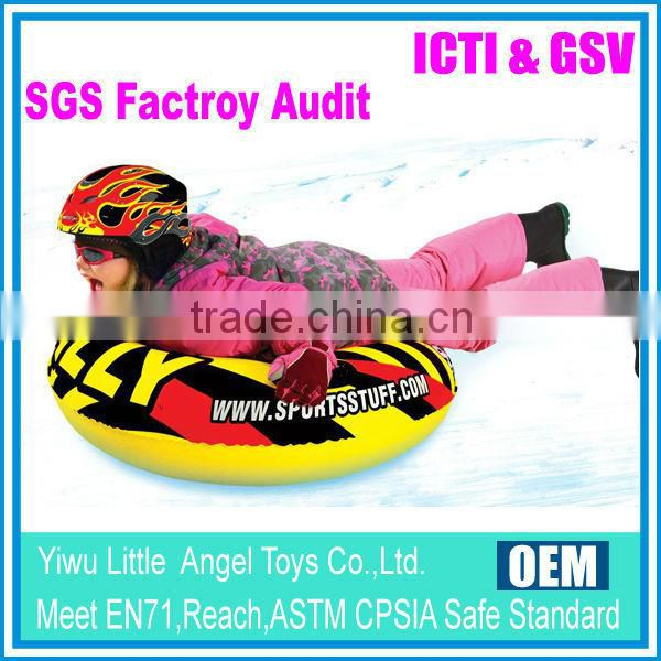 Snow tube winter sports inflatable sled outdoor water tube
