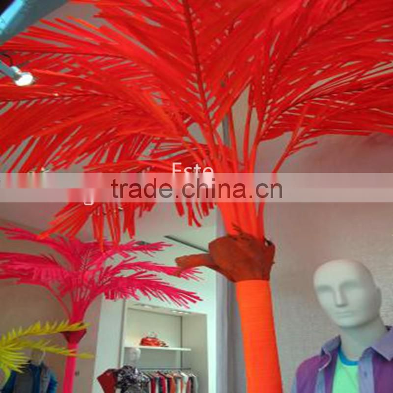 indoor|outdoor artificial green flashing LED lighted up artificial plant Date palm trees with bark