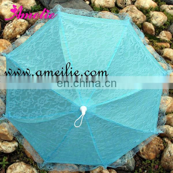 A0202 Fancy Sky Blue Umbrella Lace